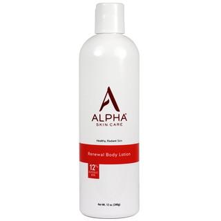 美國Alpha skin care 12%果酸絲滑身體乳 祛痘去雞皮 340g ALPHA身體乳