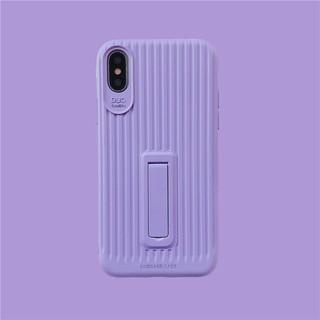 iPhoneX i6 6s i7 i8 plus 韓國糖果簡約行李箱支架手機殼軟殼磨砂全包防摔硅膠保護