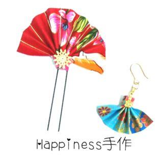 文化の都 日本つまみ細工 和風布製手作 和服浴衣 日式頭花 頭飾 髮飾 髮夾 髮簪