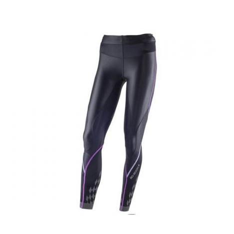 MIZUNO 美津濃 BIO GEAR BG8000 II (女) 機能壓縮緊身褲 K2MJ5D0197 黑x紫