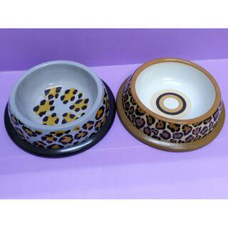 【特價】豹紋款塑膠小碗 寵物碗 喝水碗 吃飯碗 狗用 貓用 兔用
