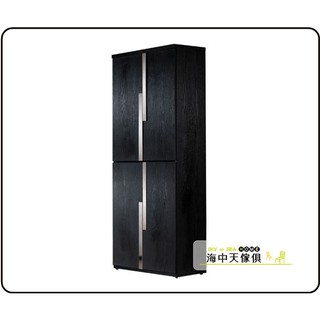 {{ 海中天傢俱 }} B-25 鞋櫃系列 803-3 艾克2.7尺黑色四門高鞋櫃