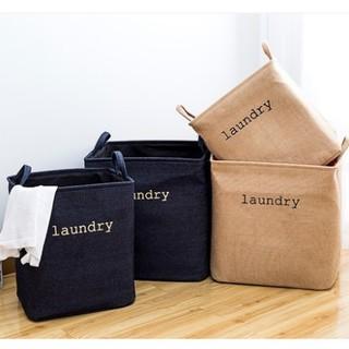 +WAPA+ 麻布袋 整理 袋子 棉麻 洗衣袋 收納袋 牛仔 摺疊 洗衣 玩具 髒衣
