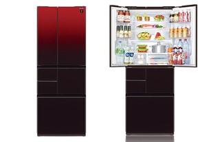 泰梭 SHARP 日本原裝 6門冰箱 SJ-GT50BT 紅/棕 (501L)另售NR-F511VG、RG520GJ電洽