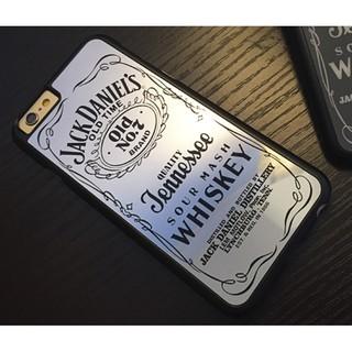 iPhone 5/5s/SE 酒瓶鏡面手機殼 PC硬殼 威士忌WHISKEY 潮牌電鍍 超薄簡約 保護套 背殼 外殼