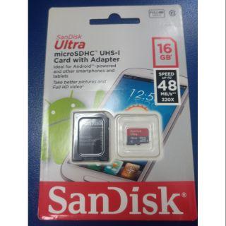 全新含轉接卡 SanDisk micro SD C10 高速16G記憶卡