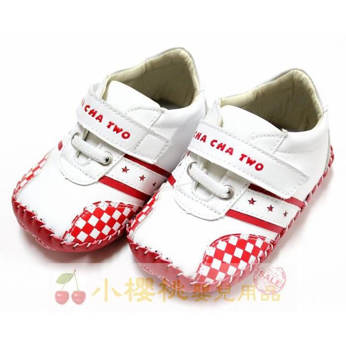 天鵝童鞋Cha Cha Two恰恰兔 賽車格童鞋 學步鞋 台灣製造【小櫻桃嬰兒用品】