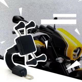 【CH-02】3.5吋~7吋 快速機車後視鏡手機架 摩托車架固定座 GPS/導航 手機架 機車架 方便 快速 實用