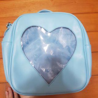 二手 愛心 愛心痛包 痛包 藍色 後背包