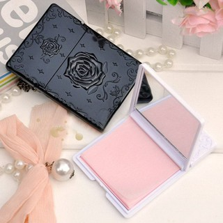 Box Rose Flower 50pcs Absorbing Paper Oil Contro Mirror