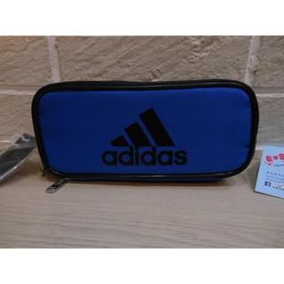 婕的店日本精品~日本帶回~adidas藍色三層拉鍊筆袋鉛筆盒