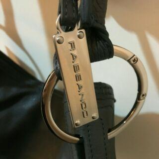 專櫃正品rabeanco深灰色牛皮製大款水桶包 真皮blossom肩背包