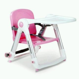 《限量新色/馬卡龍粉》英國 Apramo FlippaDining Booster 多功能性折疊式兒童餐椅