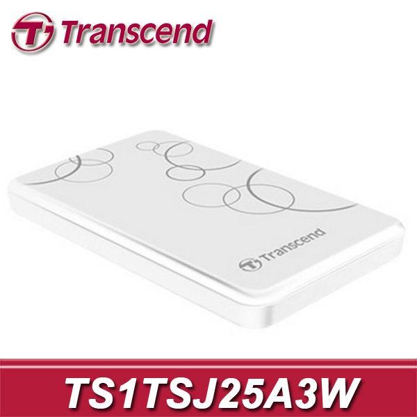 【含稅-公司貨】Transcend 創見 25A3 白色花紋 1TB USB3.0 行動硬碟 TS1TSJ25A3W