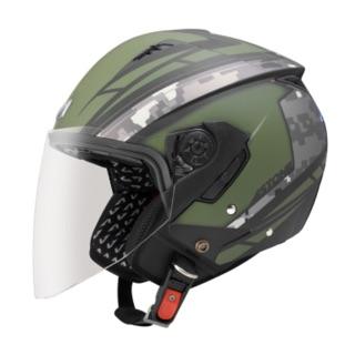 Astone 軍綠迷彩帽 4/3 內墨鏡 超輕巧950g