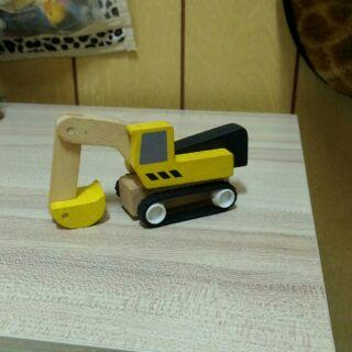 木製 挖土機 模型 玩具