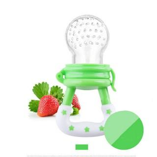๛BabyGo母嬰用品๛嬰兒蔬菜水果咬咬奶嘴  綠色M 顏色
