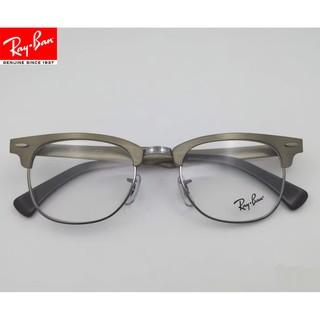 雷朋RayBan眼鏡框男女款 6295 板材半框框架個性簡約優雅 灰色金