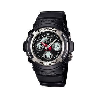 [G SHOCK]台灣公司貨 CASIO G SHOCK 小錶徑黑銀 AW-590-1ADR