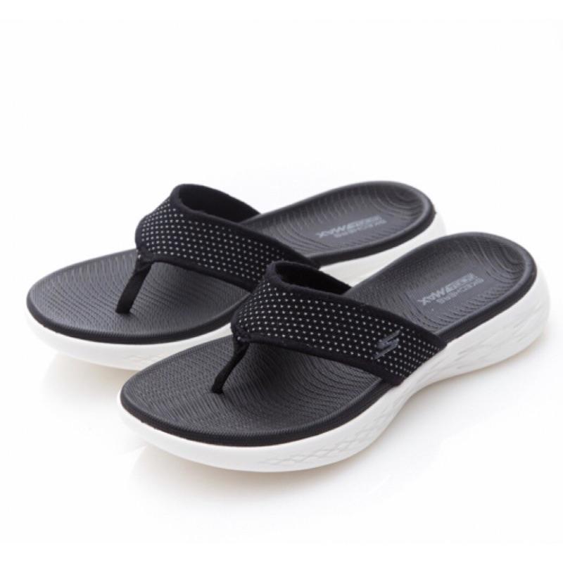Skechers 思克威爾 拖鞋(15300BKW)