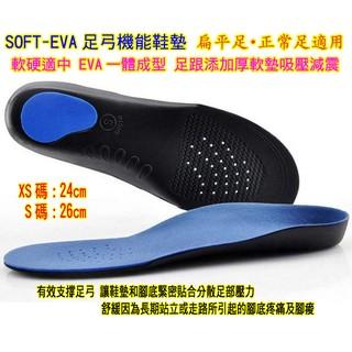XS或S號Soft-EVA足弓支撐鞋墊◎足底筋膜炎˙軟硬適中吸壓減震˙分散釋放足部壓力