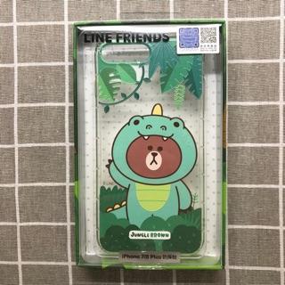 LINE Friends iPhone7 Plus iPhone8 Plus 軟式保護殼—恐龍熊大款