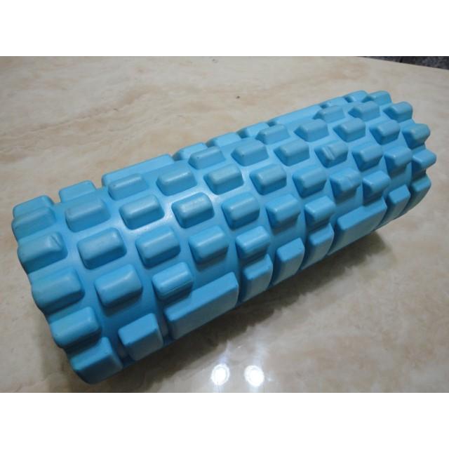 NG品149元  淺藍色 款瑜珈柱 33~14公分瑜珈柱 EVA 空心瑜珈柱 狼牙棒 滾輪