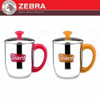 價ZEBRA 斑馬牌雙層不鏽鋼嘟嘟杯500ml ~單入~㊣304 不銹鋼茶杯子隔熱杯馬克杯