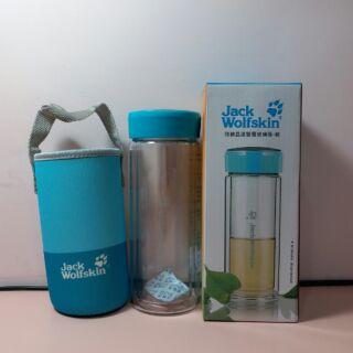 Jack Wolfskin雙層玻璃瓶-藍