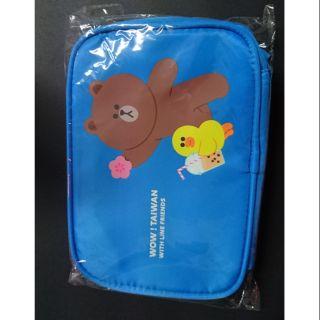 Line friends 收納袋 化妝包 盥洗包 台灣限定 熊大 莎莉