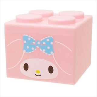 日本 三麗鷗 美樂蒂 MY MELODY 積木造型存錢筒 可疊 塑膠 可愛造型 存錢筒