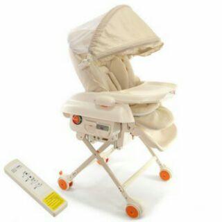 【展示現貨出清】will 多功能電動高低可調餐搖椅 遙控 定時 餐椅 附蚊帳 Will 餐搖椅