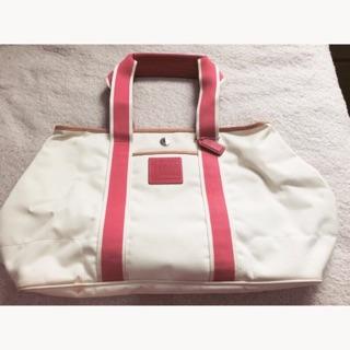Coach 白色雙面防水托特包