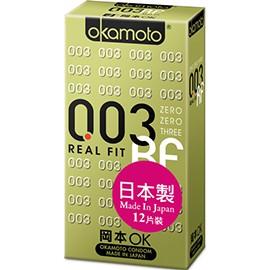 日本 岡本 003 RF 極薄曲線貼身保險套 一盒12入裝 【Condoms保險套】