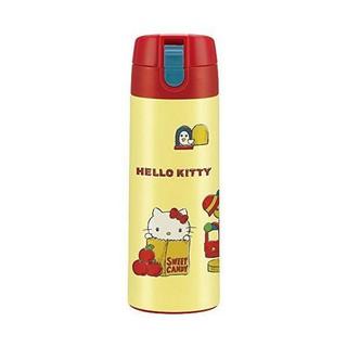 日本 skater 不鏽鋼 直飲 保溫保冷水壺-黃底Hello Kitty  350ml (7954)