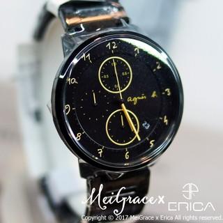 現貨在台 專櫃實拍照 ✔ agnes b. 法式簡約 黑色不鏽鋼錶帶 小b手錶 VD57-KY30G