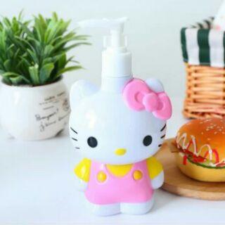 萌小物【特價kitty公仔造型分裝瓶 400ml按壓瓶 乳液瓶 洗手乳  】