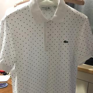LACOSTE 白色 polo 衫欸