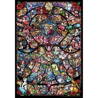 日本Tenyo玻璃彩繪透明拼圖 迪士尼 皮克斯 Disney 公主 女英雄系列*日本正品預購中*