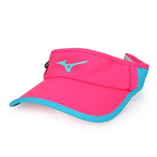 MIZUNO 女運動路跑空心帽  (中空帽 帽子 慢跑 反光 遮陽 防曬 美津濃 桃紅水藍