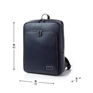 特價 Samsonite RED 金宇彬代言NEW VICO 2皮革 筆電後背包 L 15.6'' 海軍藍