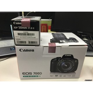 Canon 700D+18-135mm IS STM 彩虹公司貨,全新未拆,尚未使用過