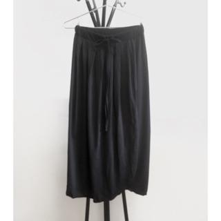 黑色棉質長裙一片裙