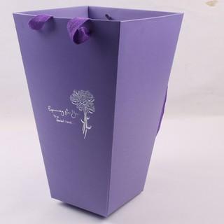 T型鮮花手提袋 鮮花抱桶 單隻玫瑰包裝桶 鲜花手提袋