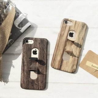 IPHONE 7 6/6s PLUS I7 I6 殼 支架 保護殼 手機殼 木紋 仿木 硬殼 木頭