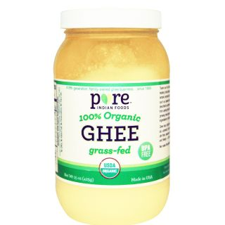Pure Indian Foods, Ghee, 100% Organic Grass-Fed 草飼酥油