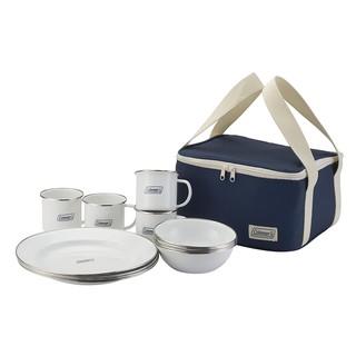【SWAY日本代購】科爾曼 Coleman 琺瑯餐盤組 4人用 CM-32362 附收納袋