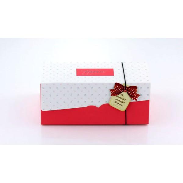 [現貨]紅色 19cm 生乳捲蛋糕盒 瑞士捲盒 蛋捲盒 紙盒 包裝盒 彌月禮盒 C024