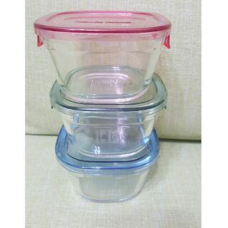 日本iwaki玻璃保鮮盒(耐熱玻璃),容量200ml/個,寶寶副食品盒