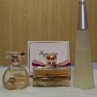 (想單買請聊聊)正貨香水3瓶一起賣(三宅一生一生之水女性淡香水+Ferragamo芭蕾女伶淡香精+repetto淡香水